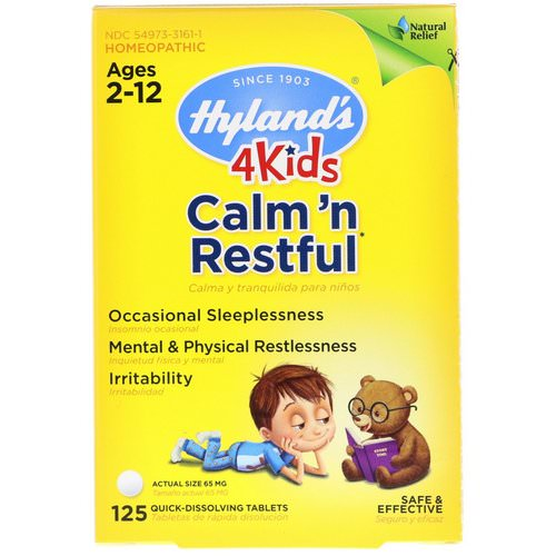 Hyland's, 4 Kids, Calm' n Restful, Ages 2-12, 125 Quick-Dissolving Tablets فوائد