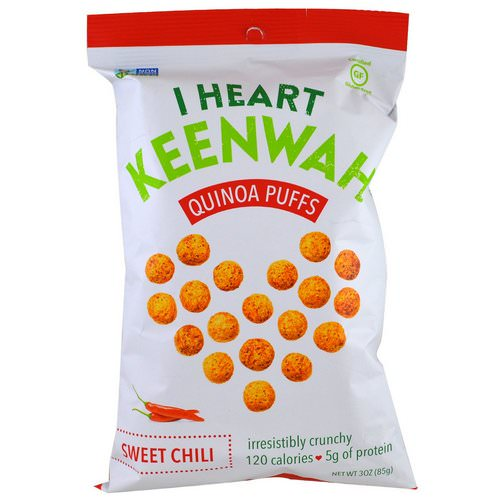 I Heart Keenwah, Quinoa Puffs, Sweet Chili, 3 oz (85 g) فوائد