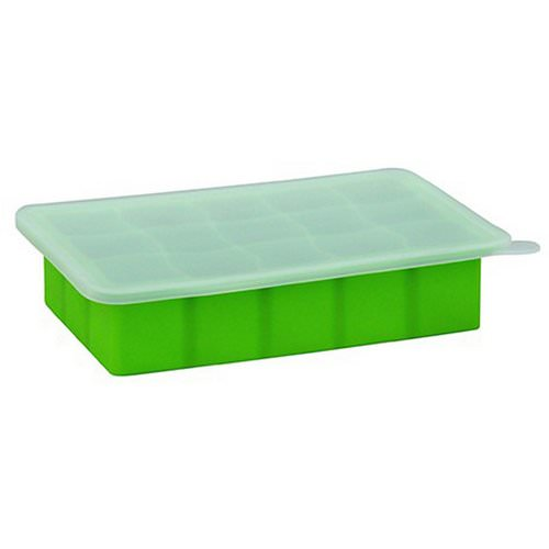 i play Inc, Green Sprouts, Fresh Baby Food Freezer Tray, Green, 1 Tray, 15 Portions - 1 oz (28 ml) Cubes Each فوائد