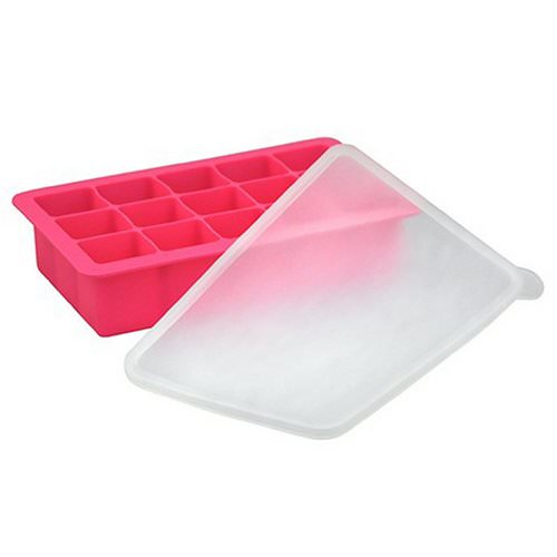 i play Inc, Green Sprouts, Fresh Baby Food Freezer Tray, Pink, 1 Tray, 15 Portions - 1 oz (28 ml) Each فوائد