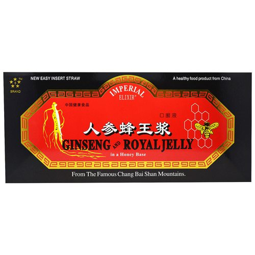 Imperial Elixir, Ginseng and Royal Jelly, 10 Bottles, 0.34 fl oz (10 ml) Each فوائد