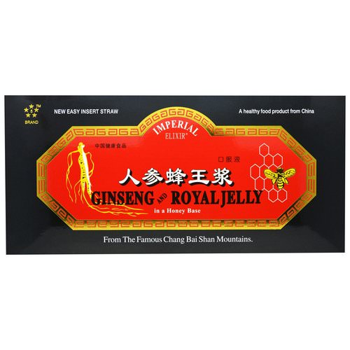 Imperial Elixir, Ginseng and Royal Jelly, 30 Bottles, 0.34 fl oz (10 ml) Each فوائد