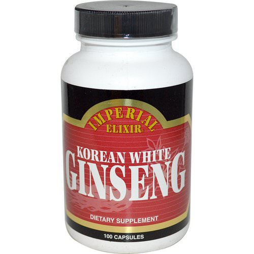 Imperial Elixir, Korean White Ginseng, 100 Capsules فوائد