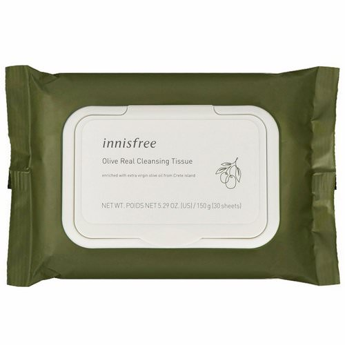 Innisfree, Olive Real Cleansing Tissue, 30 Sheets فوائد