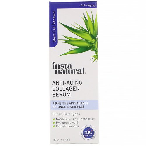 InstaNatural, Anti-Aging Collagen Serum, 1 fl oz (30 ml) فوائد