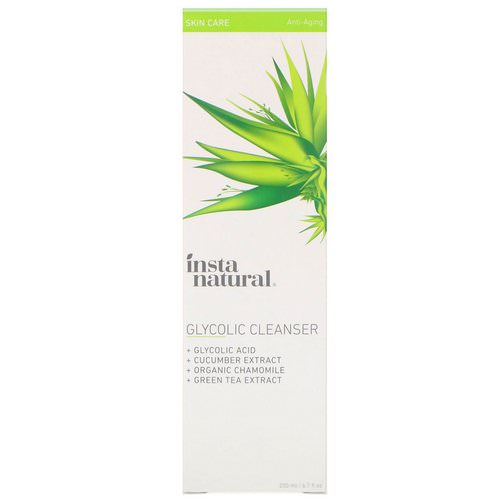 InstaNatural, Glycolic Cleanser, Anti-Aging, 6.7 fl oz (200 ml) فوائد
