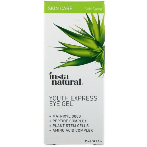 InstaNatural, Youth Express Eye Gel, Anti-Aging, 0.5 fl oz (15 ml) فوائد