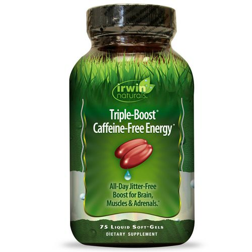 Irwin Naturals, Triple-Boost Caffeine-Free Energy, 75 Liquid Soft-Gels فوائد