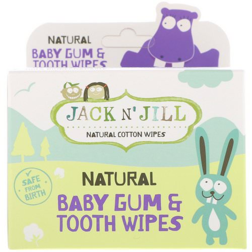 Jack n' Jill, Natural Baby Gum & Tooth Wipes, 25 Individually Wrapped Wipes فوائد