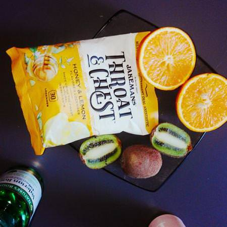 Jakemans, Throat & Chest, Honey and Lemon Flavored, 30 Lozenges