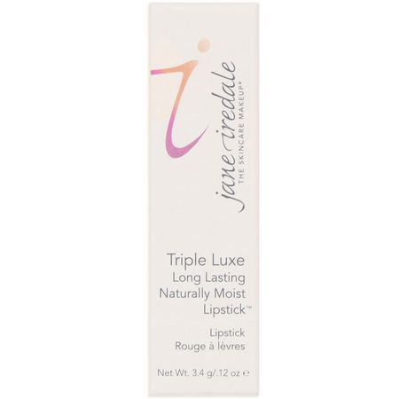 Jane Iredale, Triple Luxe, Long Lasting Naturally Moist Lipstick, Joanna, .12 oz (3.4 g):أحمر شفاه, شفاه