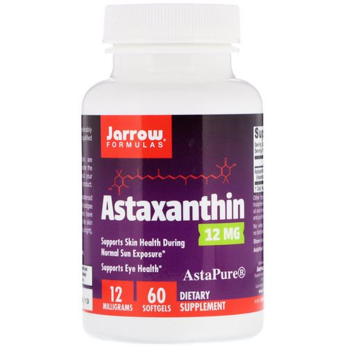 Jarrow Formulas, Astaxanthin, 12 mg, 60 Softgels فوائد