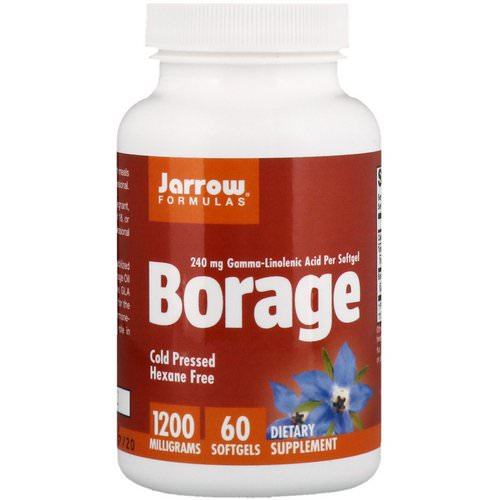 Jarrow Formulas, Borage, GLA-240, 1,200 mg, 60 Softgels فوائد