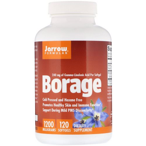 Jarrow Formulas, Borage, GLA-240, 1200 mg, 120 Softgels فوائد
