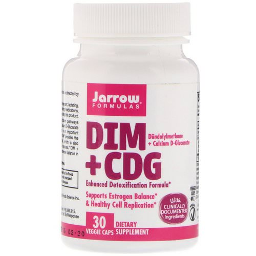 Jarrow Formulas, DIM + CDG, Enhanced Detoxification Formula, 30 Veggie Caps فوائد
