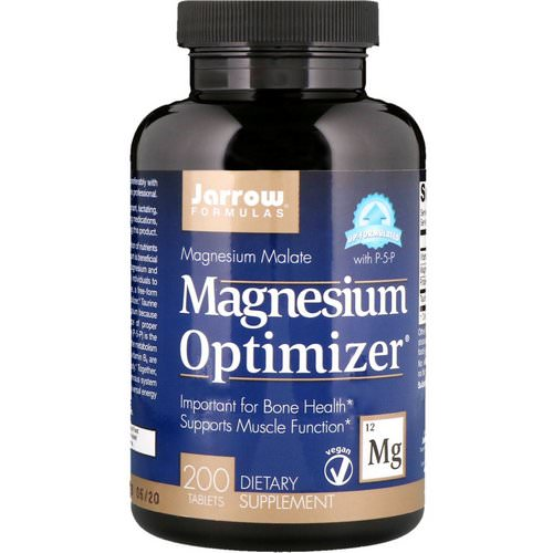 Jarrow Formulas, Magnesium Optimizer, 200 Tablets فوائد