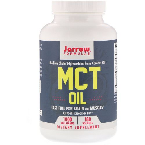 Jarrow Formulas, MCT Oil, 1000 mg, 180 Softgels فوائد