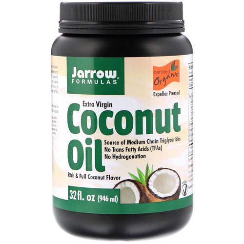 Jarrow Formulas, Organic Extra Virgin Coconut Oil, Expeller Pressed, 32 fl oz (946 ml) فوائد