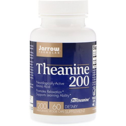 Jarrow Formulas, Theanine 200, 200 mg, 60 Veggie Caps فوائد
