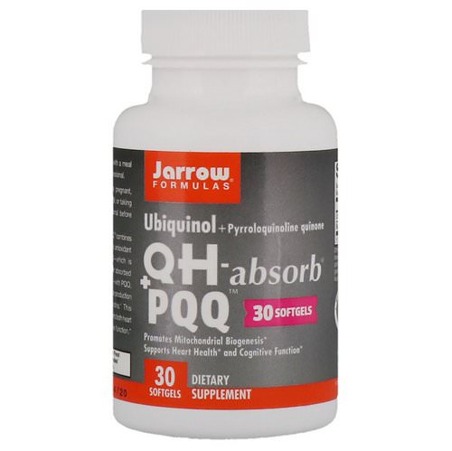 Jarrow Formulas, Ubiquinol, QH - Absorb + PQQ, 30 Softgels فوائد