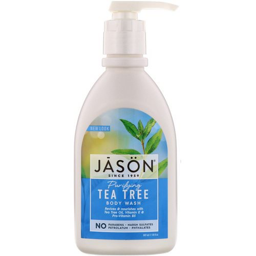Jason Natural, Body Wash, Purifying Tea Tree, 30 fl oz (887 ml) فوائد