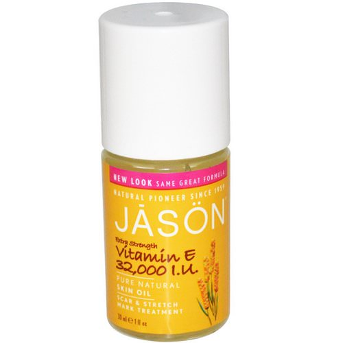 Jason Natural, Extra Strength, Vitamin E Skin Oil, 32,000 I.U, 1 fl oz (30 ml) فوائد