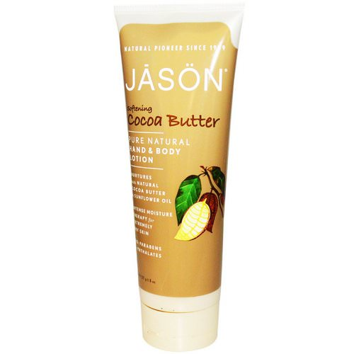Jason Natural, Hand & Body Lotion, Softening Cocoa Butter, 8 oz (227 g) فوائد