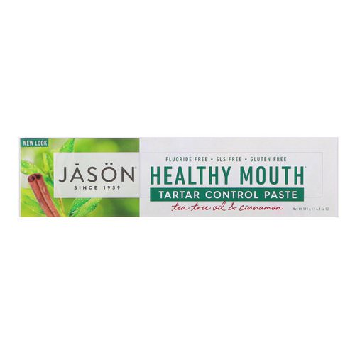 Jason Natural, Healthy Mouth, Tartar Control Paste, Tea Tree Oil & Cinnamon, 4.2 oz (119 g) فوائد