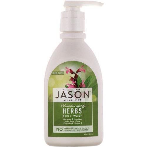 Jason Natural, Moisturizing Herbs Body Wash, 30 fl oz (887 ml) فوائد