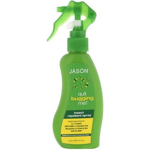 Jason Natural, Quit Bugging Me! Insect Repellant Spray, 4.5 fl oz (133 ml) فوائد