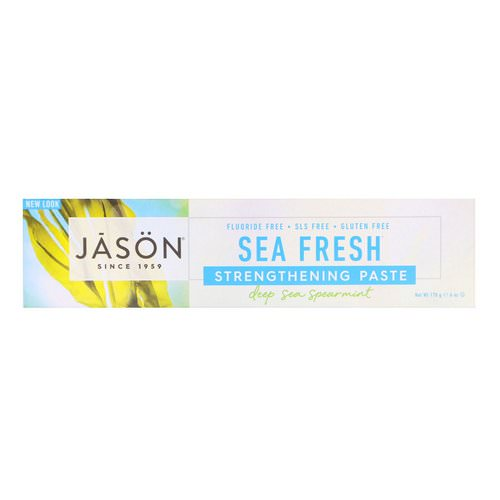 Jason Natural, Sea Fresh, Strengthening Paste, Deep Sea Spearmint, 6 oz (170 g) فوائد