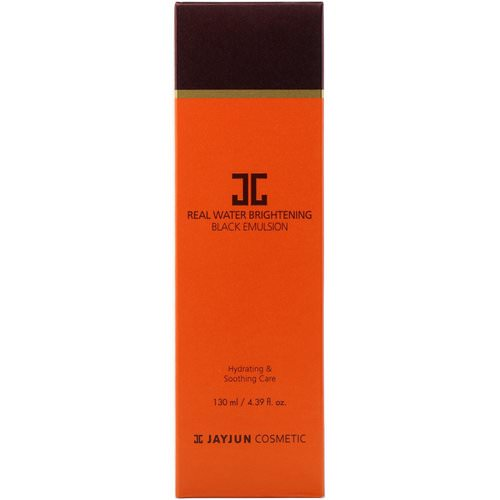 Jayjun Cosmetic, Real Water Brightening Black Emulsion, 4.39 fl oz (130 ml) فوائد