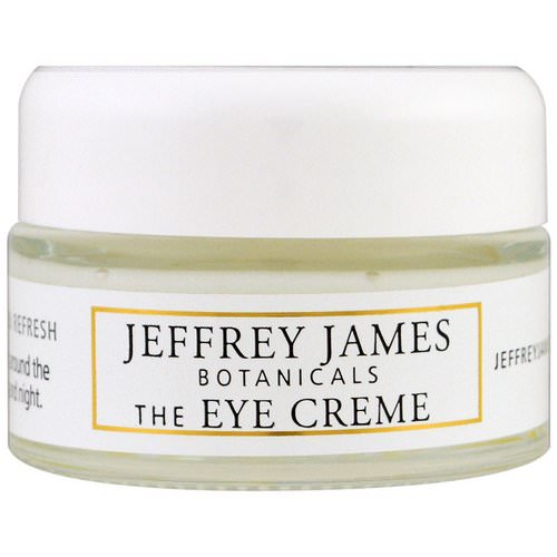 Jeffrey James Botanicals, The Eye Cream, Brighten Lighten Refresh, 0.5 oz (15 ml) فوائد