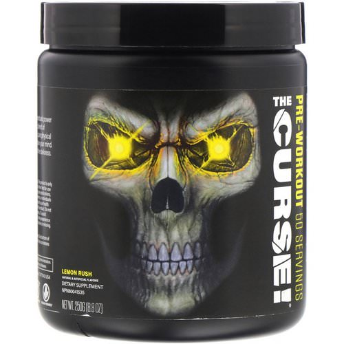 JNX Sports, The Curse, Pre Workout, Lemon Rush, 8.8 oz (250 g) فوائد