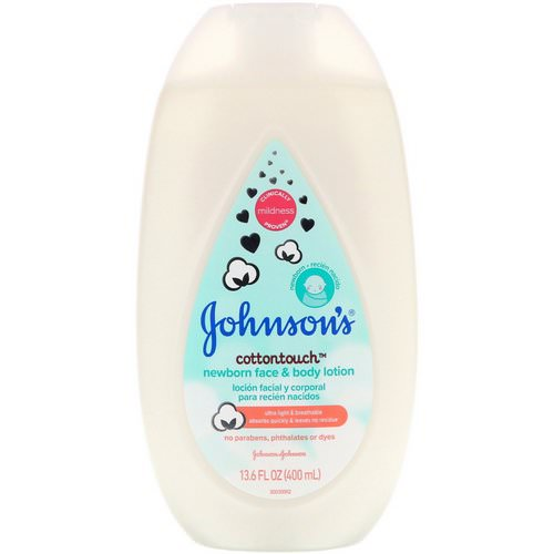 Johnson & Johnson, Cottontouch, Newborn Face & Body Lotion, 13.6 fl oz (400 ml) فوائد