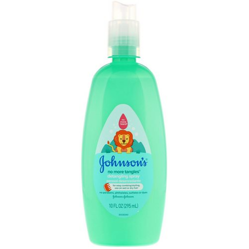 Johnson & Johnson, No More Tangles, Detangling Spray, 10 fl oz (295 ml) فوائد