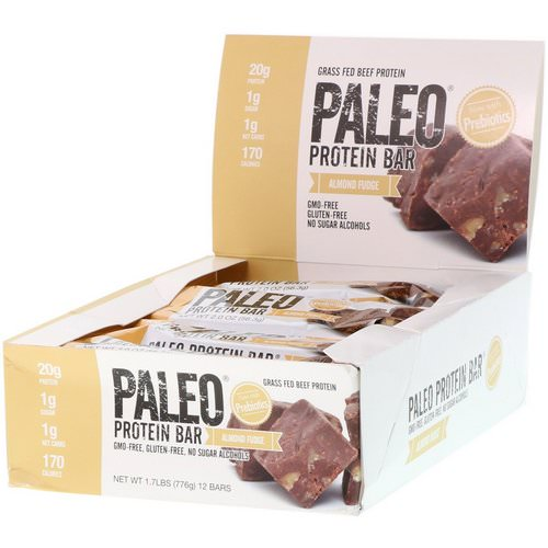 Julian Bakery, Paleo Protein Bar, Almond Fudge, 12 Bars, 2.0 oz (56.3 g) Each فوائد