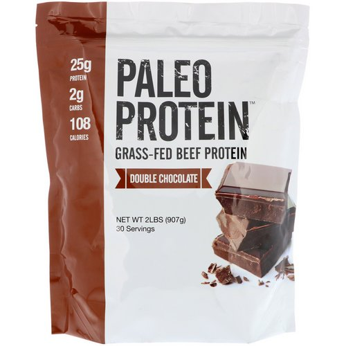 Julian Bakery, Paleo Protein, Grass-Fed Beef Protein, Double Chocolate, 2 lbs (907 g) فوائد
