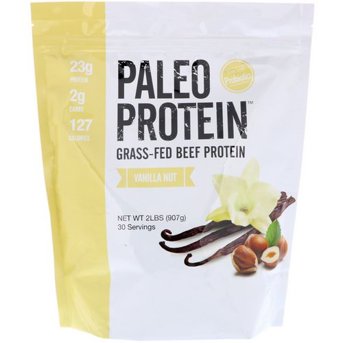 Julian Bakery, Paleo Protein, Grass-Fed Beef Protein, Vanilla Nut, 2 lbs (907 g) فوائد