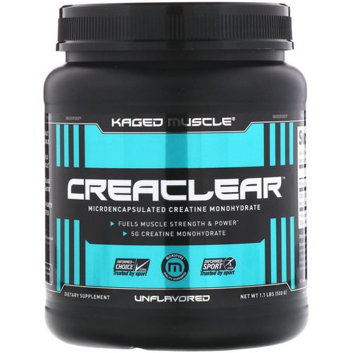 Kaged Muscle, Creaclear, Unflavored, 1.1 lb (500 g) فوائد