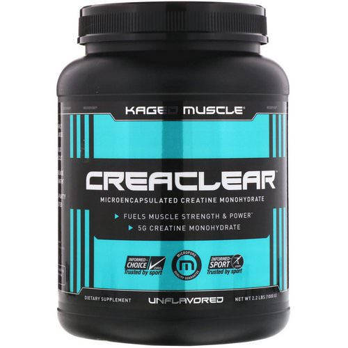 Kaged Muscle, Creaclear, Unflavored, 2.2 lb (1000 g) فوائد