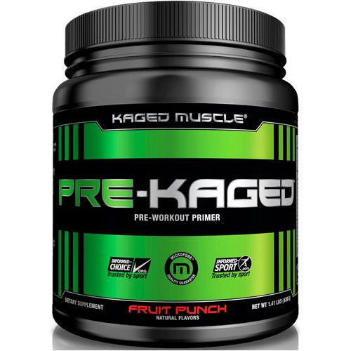 Kaged Muscle, Pre-Kaged, Pre-Workout Primer, Fruit Punch, 1.41 lbs (640 g) فوائد