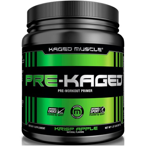 Kaged Muscle, Pre-Kaged, Pre-Workout Primer, Krisp Apple, 1.37 lbs (621 g) فوائد