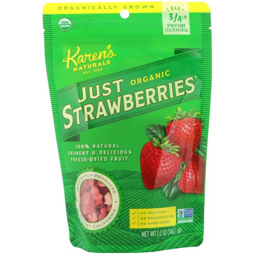 Karen's Naturals, Organic Just Strawberries, 1.2 oz (34 g) فوائد