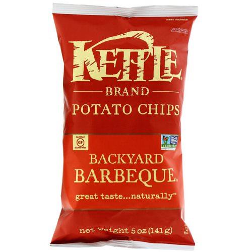 Kettle Foods, Potato Chips, Backyard Barbeque, 5 oz (141 g) فوائد