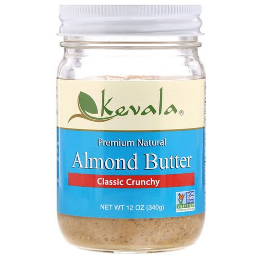 Kevala, Almond Butter, Classic Crunchy, 12 oz (340 g) فوائد