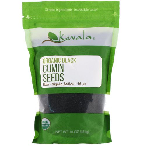 Kevala, Organic Black Cumin Seeds, Raw, 16 oz (454 g) فوائد
