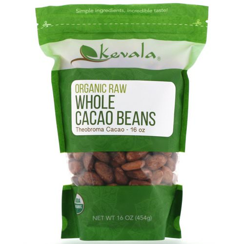 Kevala, Organic Raw Whole Cacao Beans, 16 oz (454 g) فوائد