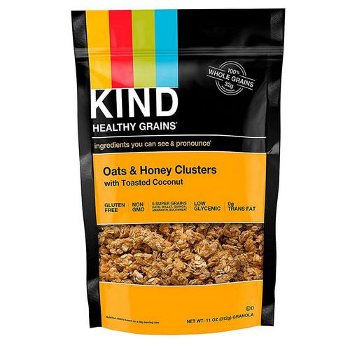 KIND Bars, Healthy Grains, Oats & Honey Clusters with Toasted Coconut, 11 oz (312 g) فوائد