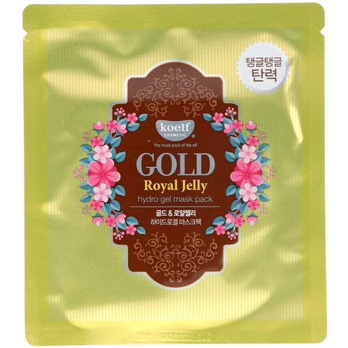 Koelf, Gold Royal Jelly Hydro Gel Mask Pack, 5 Masks, 30 g Each فوائد